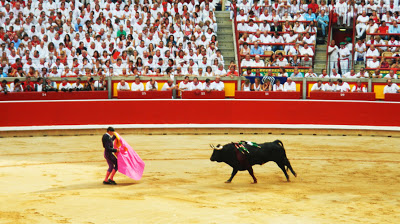 Bull Fighting And Chasing Lunatics Through The Streets In Pamplona Spain Aus Globetrotter